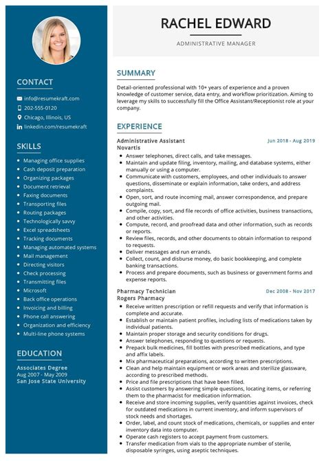 font size for resume