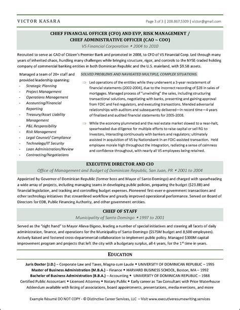 Executive Resume Hybrid Financial Executive Cfo Resume Job Search Resources