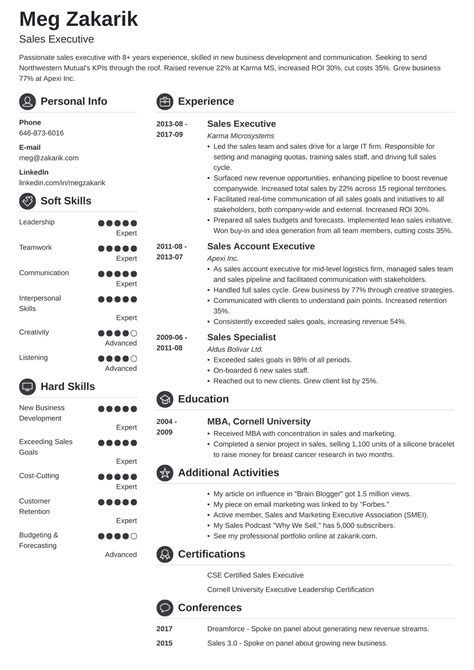 Executive Resume One Page Top Executive Resume Writing Samples Template Tools