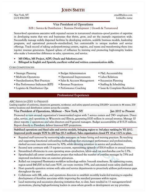 Executive Resumes Samples Free Samples Executive Resume Writing Service