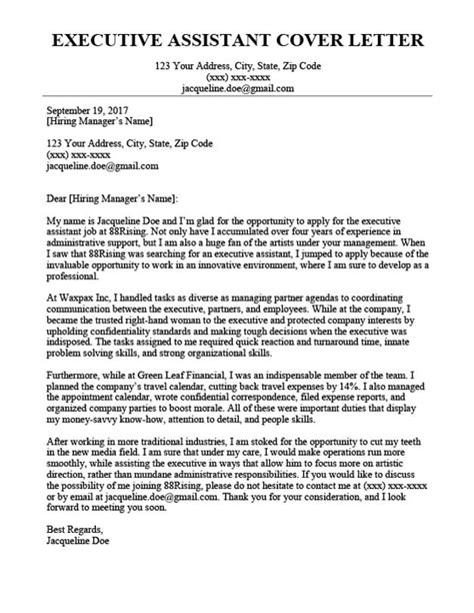executive secretary cover letter sample resume english teacher executive secretary cover letter sample executive assistant cover letter job interviews