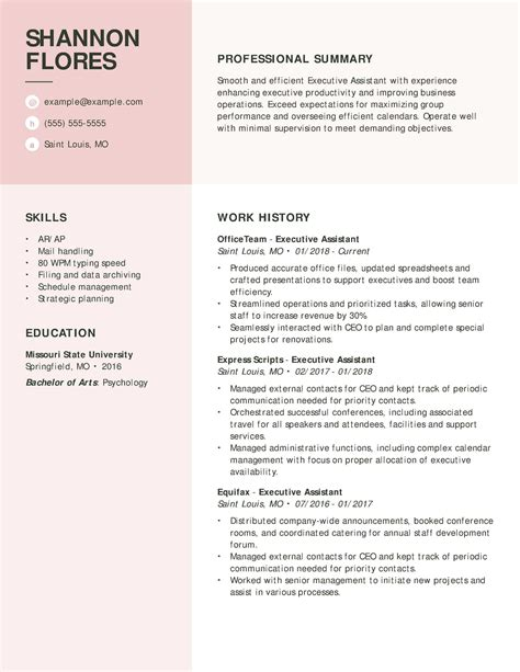 executive secretary resume executive resume service certified executive branded resume
