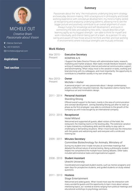 executive secretary resume secretary resume best sample resume