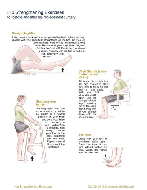exercises for hip flexor problems after hip replacement