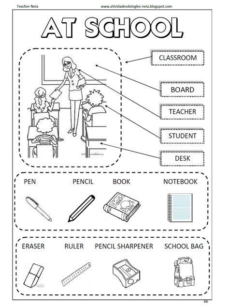 exercises material de escola em ingl�s