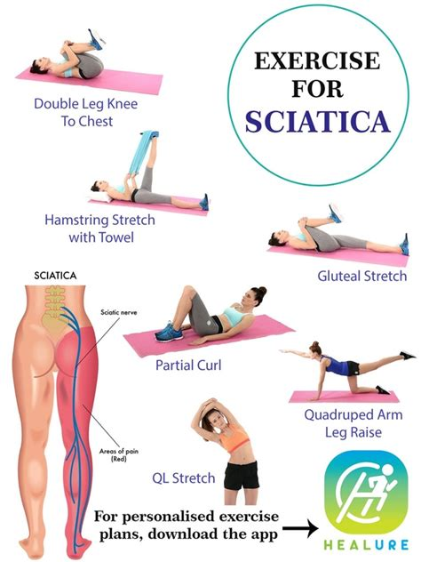 exercises to relieve sciatica hip and leg pain