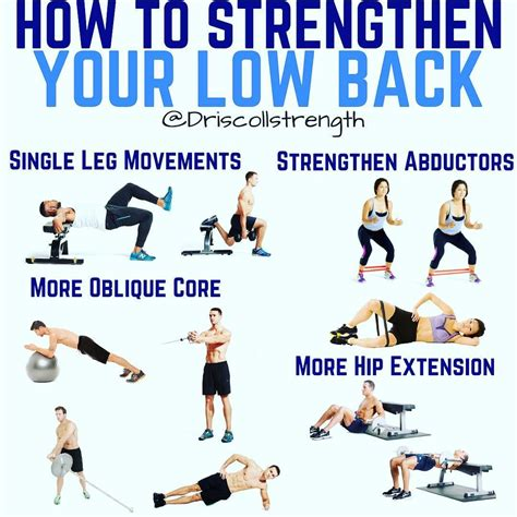 exercises to strengthen lower back and hip muscles
