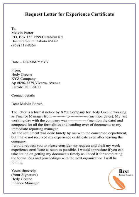 Experience Letter Mail How To Get Experience Letter And Relieving Mail From My