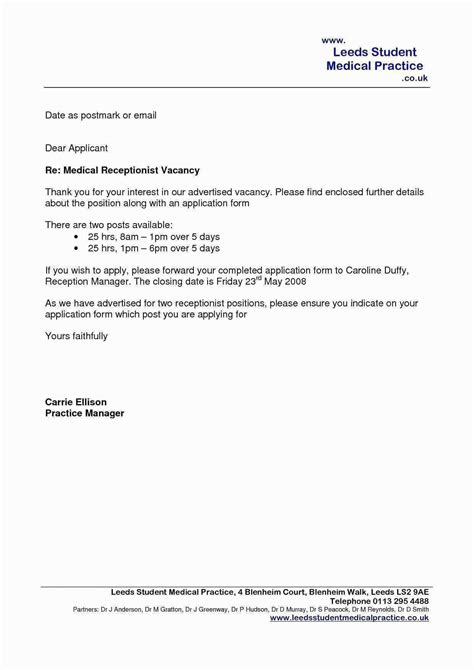 Medical Receptionist Cover Letter Sample Letters Examplesver For     Best  Free Home Design Idea   Inspiration