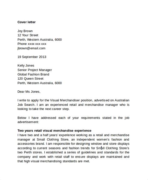 Experience Letter Retail Retail Management Cover Letter Example The Balance
