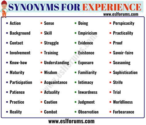 amazing experience thesaurus resume pictures simple resume