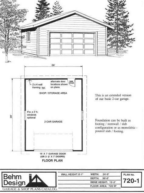 Extended Garage Plans