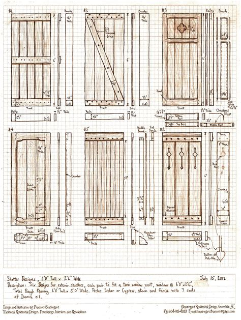 Exterior Shutters Woodworking Plans