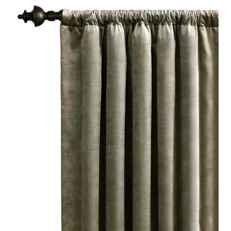 Ezra Epic Solid Color Rod Pocket Single Curtain Pane by
