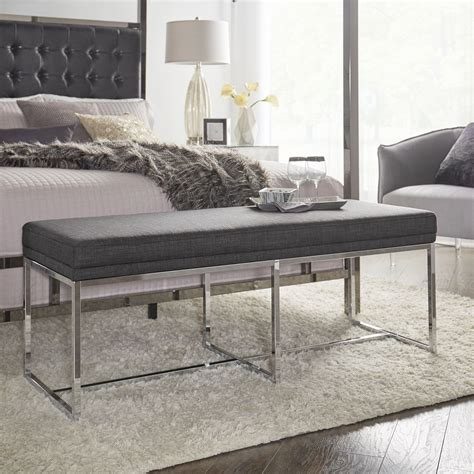 Fadrique Metal Upholstered Bedroom Bench