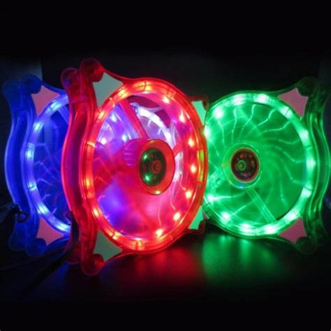 Fans - 12cm Pc Computer Case Cooling Fan Led Rgb Mute Halo Ring.