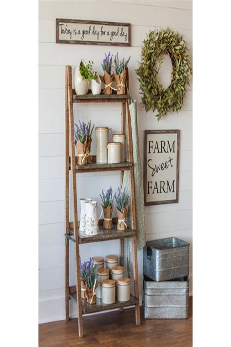 Farringdon 4-Shelf Wood and Metal Ladder Bookcase