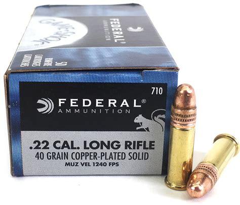Ammunition Federal Ammunition 22 Long Rifle.