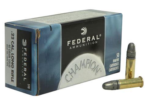 Ammunition Federal Champion Target 22 Lr Ammunition 22 Long Rifle.