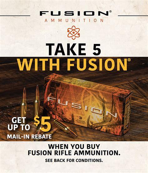 Ammunition Federal Fusion Ammunition Rebate.