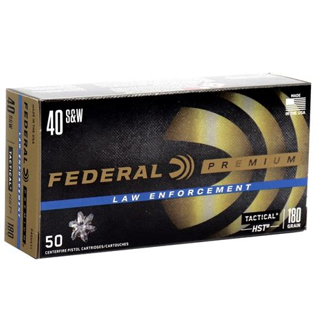 Ammunition Federal Hst 40 Cal Ammunition.