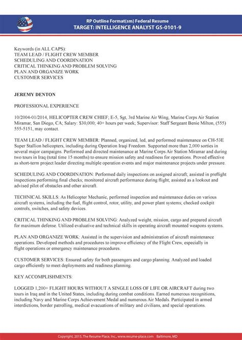 resume sample for federal jobs federal resume sample and example
