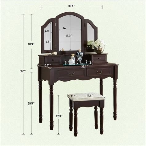 Felda Elegant Dressing Vanity Set with Mirror by Darby Home Co