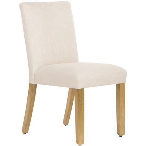 Felisa Parsons Chair in Linen Talc