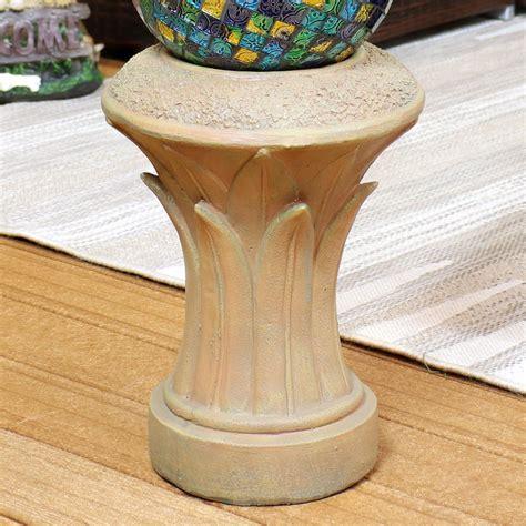Fern Gazing Ball Pedestal