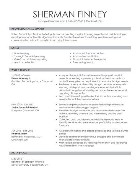 Financial Expert Resume Financial Expert Resume Financial Professional Resume Samples Jobhero