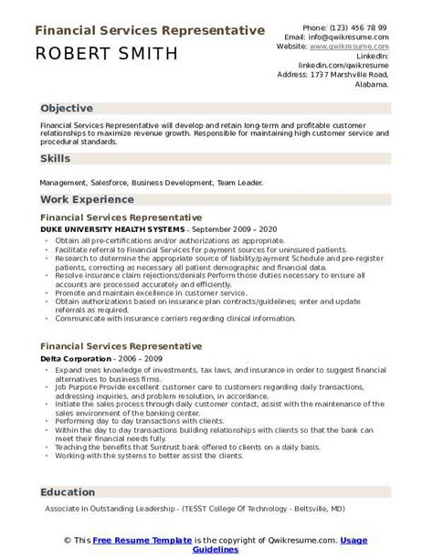 financial aid counselor resume