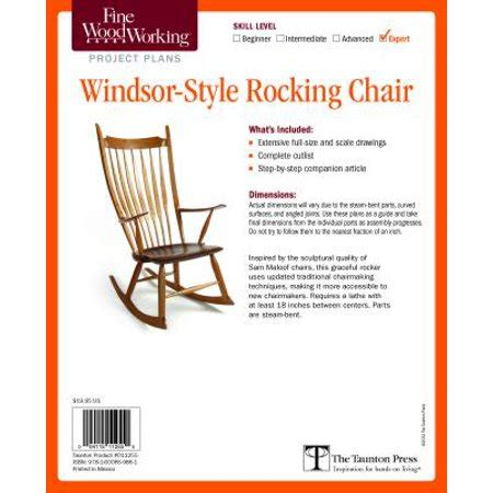 fine woodworking rocking chair plans