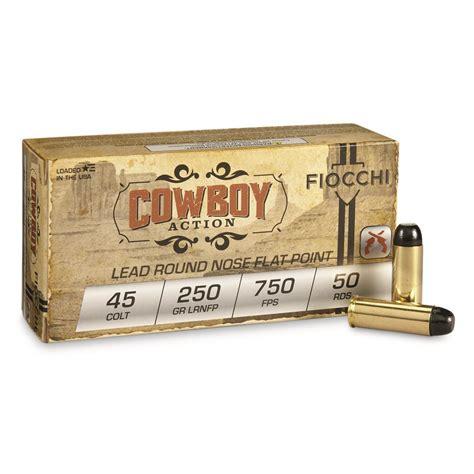 Ammunition Fiocchi Cowboy Action Ammunition 45 Colt.
