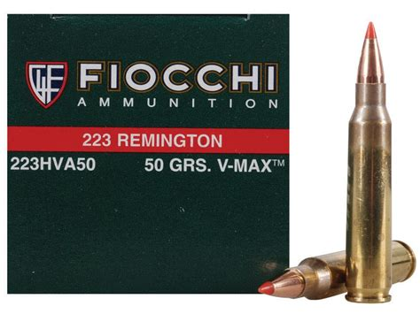 Ammunition Fiocchi Extrema Ammunition 223 Remington 50 Grain Hornady V-Max Ammunition.