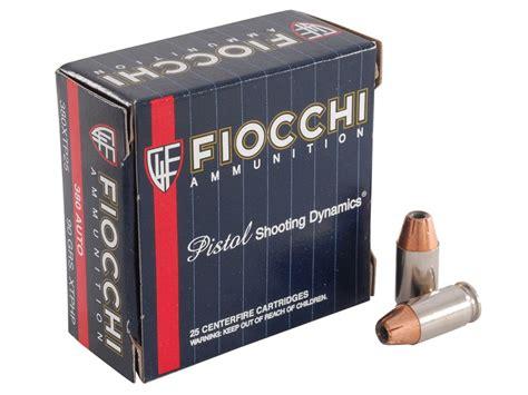 Ammunition Fiocchi Extrema Ammunition 380.