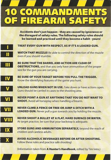 firearms 10 commandments