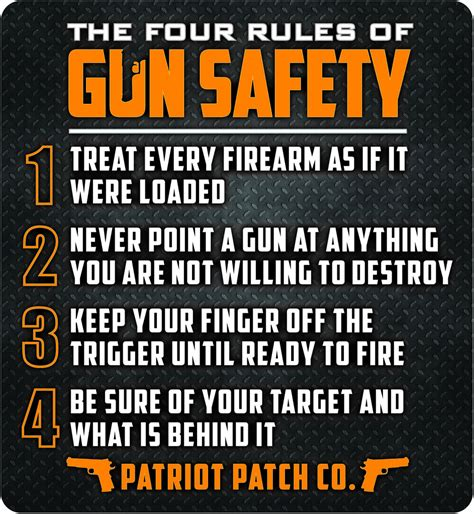 firearms safety rules