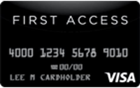 Credit Card Access Visa First Access Visa Credit Card Wallethub Free Credit