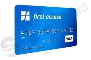 Credit Card Access Kit First Access Visar Credit Card 300 Credit