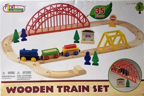 First Learning Wooden Train Set