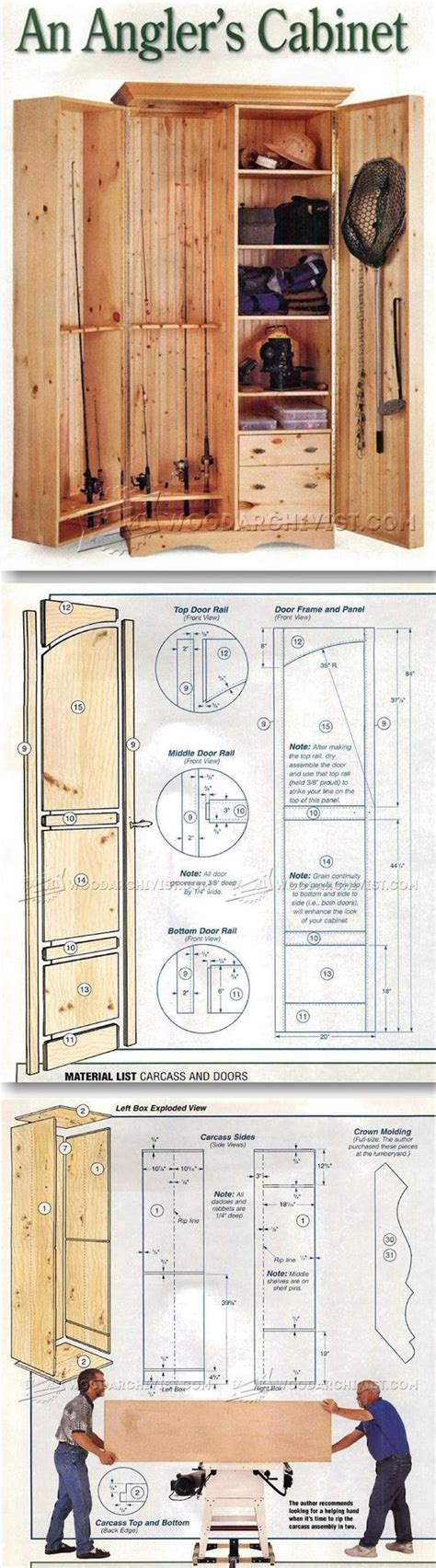 Fishing Cabinet Woodworking Plans