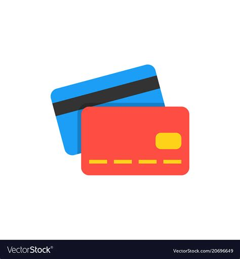 Flat Credit Card Icons Vector Credit Card Icon Flat Design Vector Stock Vector Royalty
