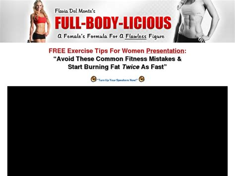 [click]flavia Del Monte S Full Body Licious  Curvalicious Workout Systems.
