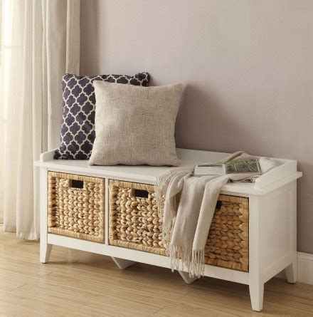 Flavius Wood Storage Bench