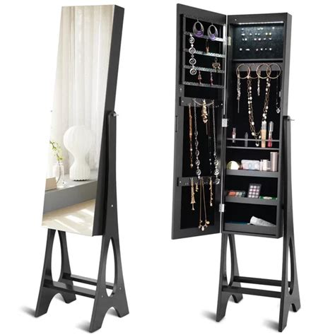 Fleetwood Free Standing Jewelry Armoire with Mirror