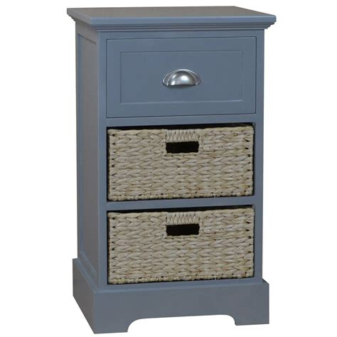 Fleming 1 Drawer 2 Basket Chest