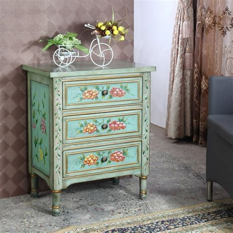 Floral 3 Drawer Accent Chest