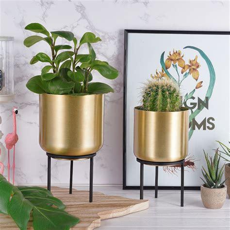 Flower Metal Pot Planter