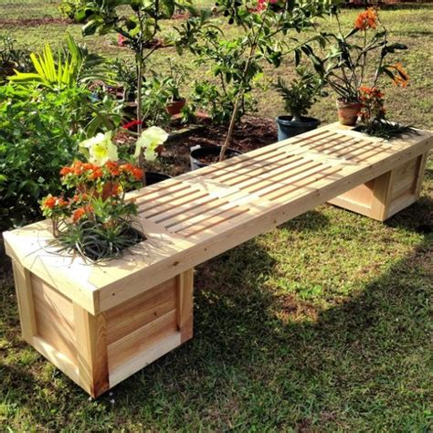 Flower Pot Bench Designs