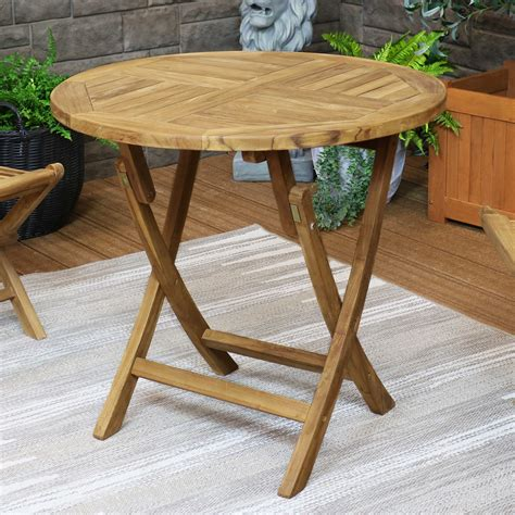 Folding Wooden Garden Table